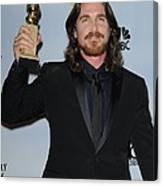 Christian Bale In The Press Room Canvas Print