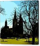 Christian Church Silhouette Canvas Print