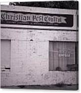 Christian Pest Control Canvas Print