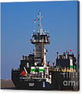 Christiana Oil Tanker Sitting In Galveston Tx Canvas Print