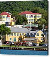Christiansted Water Front Canvas Print