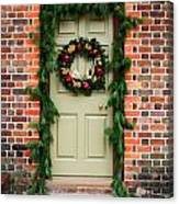Christmas Door Canvas Print