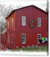 Christmas Eve At Williston Mill Canvas Print