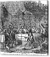Christmas Feast, 1838 Canvas Print