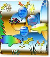 Christmas Fish Tank Canvas Print