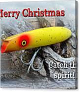 Christmas Greeting Card - Gibbs Darter Vintage Fishing Lure Canvas Print