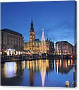 Christmas In Hamburg Canvas Print