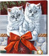 Christmas Kittens Canvas Print