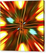 Christmas Light Abstract Canvas Print