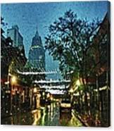 Christmas Lights Down Dauphin Street Canvas Print