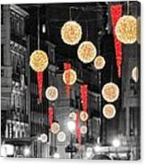 Christmas Lights In Alicante Canvas Print