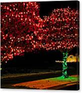 Christmas Lights Red And Green Canvas Print