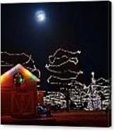 Christmas Moon Canvas Print