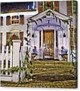 Christmas On Main Street Canvas Print