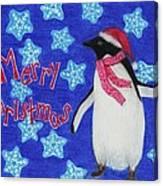 Christmas Penguin Canvas Print