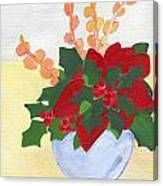 Christmas Poinsetta Canvas Print