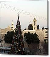 Christmas Tree In Manger Square Bethlehem Canvas Print