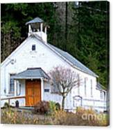 Christs Church At Elbe Washington Canvas Print