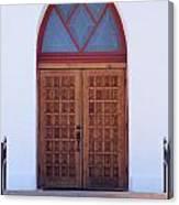 Christ's Red Door Canvas Print