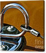 Chrome Lock Canvas Print