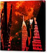 Chrysler Building - New York City Surreal Canvas Print