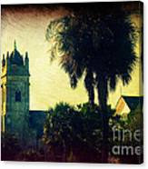 Church At Fort Moultrie Near Charleston Sc Canvas Print
