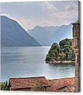 church at the Lake Como Canvas Print