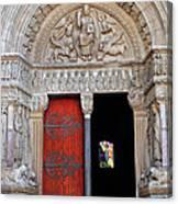 Church Entrance Arles France Canvas Print
