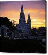 Church In A Town, Ireland Canvas Print