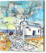 Church In Cape Gkreko In Cyprus Canvas Print