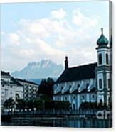 Church In Lucerne Canvas Print