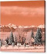 Church In The Mountains Canvas Print