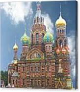 church St. Petersburg Russia Canvas Print