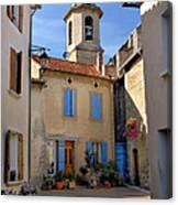 Church Steeple In Provence Canvas Print