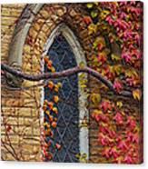 Church Window Autumn Canvas Print
