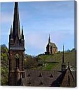 Churches Of Lorchhausen - Color Canvas Print