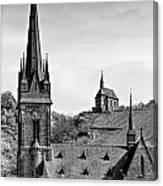 Churches Of Lorchhausen Bw Canvas Print