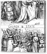 Church/state Cartoon, 1870 Canvas Print