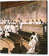 Cicero In Senate Canvas Print
