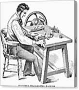 Cigar-making Machine, 1859 Canvas Print