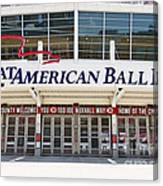 Cincinnati Great American Ball Park Entrance Sign Canvas Print