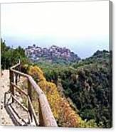 Cinqre Terre Corniglia From The Trail Canvas Print
