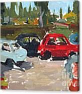 Cinque Cento Rally Radicofani  Canvas Print