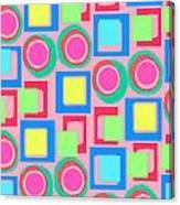 Circles And Squares Canvas Print