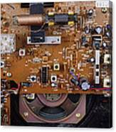 Circuit Board In A Portable Radio Canvas Print
