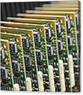 Circuit Board Production Canvas Print