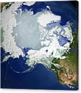 Circum-arctic Permafrost Canvas Print