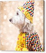 Circus Clown Dog Canvas Print
