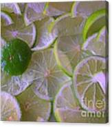 Citrons Verts - Green Lemon - Ile De La Reunion Canvas Print
