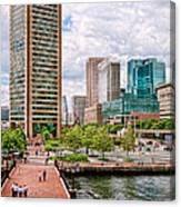 City - Baltimore Md - Harbor Place - Baltimore World Trade Center  Canvas Print